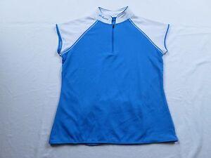 Schwinn-Womens-Blue-White-Bike-Cycling-Jersey-Sz-S-Small-Shirt-MTB-Race-Team-Zip