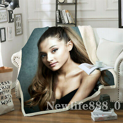 New Ariana Grande 3D Print Sherpa Blanket Sofa Couch Quilt Cover throw blanket