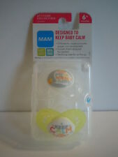 MAM Pacifiers Silicon Orthodontic Nipples Attitude Collection 6M+ Set Of 2 L#5