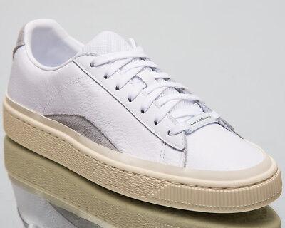 Puma x Han Kjøbenhavn Basket White Leather Lace Up Mens Trainers 367185 01 B44C