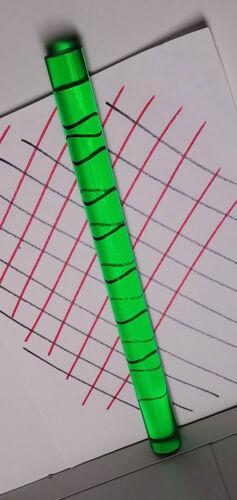 "CLEAR GREEN 1"" DIAMETER TRANSLUCENT ACRYLIC PLEXIGLASS LUCITE ROD 24"" INCH LONG"