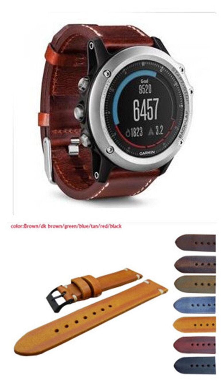 For rare 2016 news Garmin Fenix 1 2 3  Calfskin Watch Band Strap