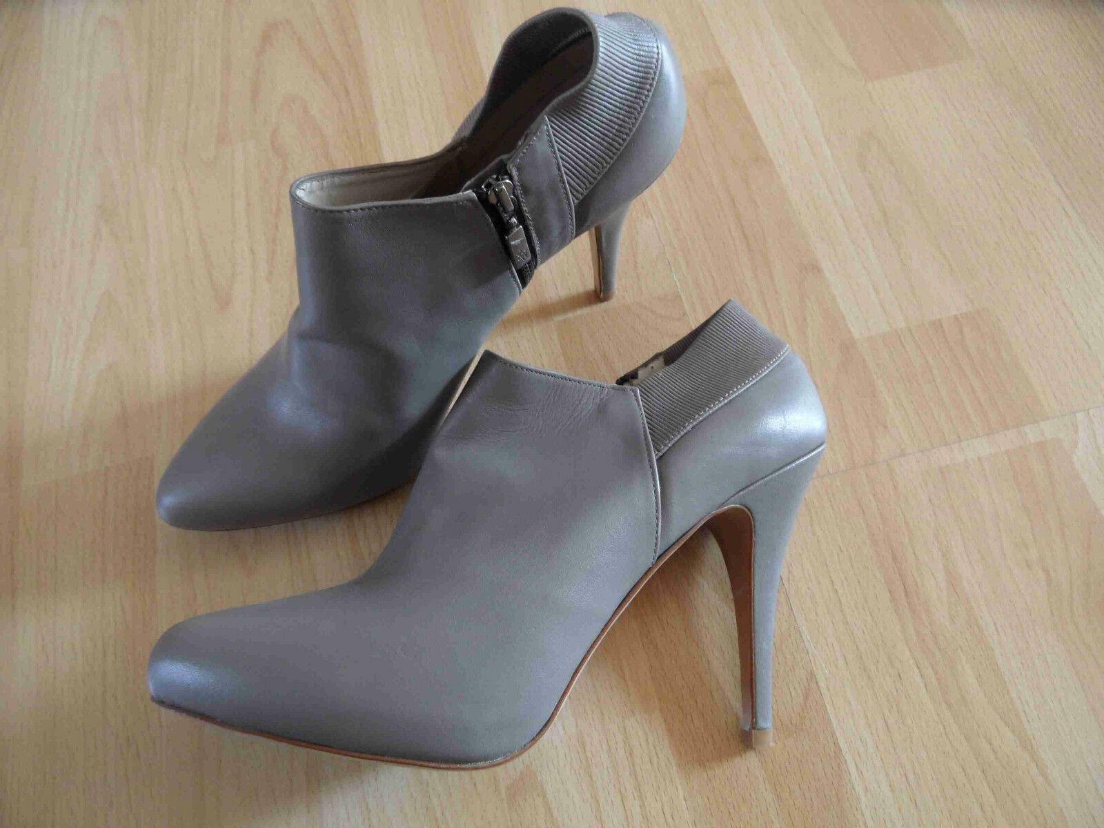 ZARA stylische Ancle Stiefel High Heels NB2 grau Gr. 40 NEU NB2 Heels da2680