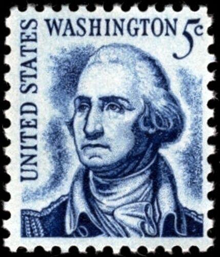 1965 5c George Washington, Clean Face, Dull Gum Scott 1