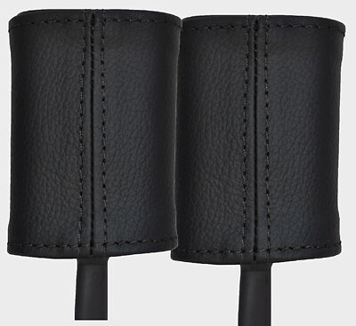 Black stitch fits ALFA ROMEO 156 97-06 2x siège avant couvre en cuir ceinture tige