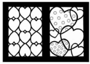 Dover Stained Glass Coloring Book: Hearts Stained Glass Coloring ...