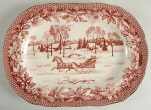 222-Fifth-POINSETTIA-TOILE-14-034-Oval-Serving-Platter-10409152
