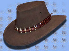 AUSSIE Made LEATHER HAT Crocodile DUNDEE by CUTANA HAT
