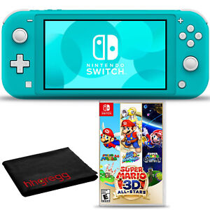 Nintendo Switch Lite (Turquoise) Bundle with Cleaning Cloth + Super Mario 3D