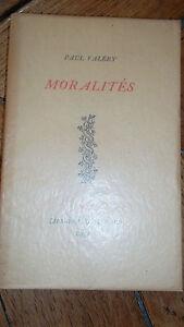 Paul-Valery-MORALITES-Librairie-Gallimard-nte-sur-Alfa