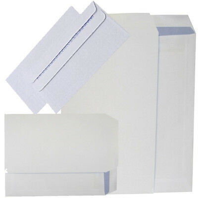 High Quality White Self Seal Envelopes PLAIN C5 100gsm Strong Paper