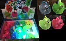 """6 LIGHT UP 3"""" FLASHING PUFFER DUCKS yoyo toys duck lightup yo-yo kids party toy"""