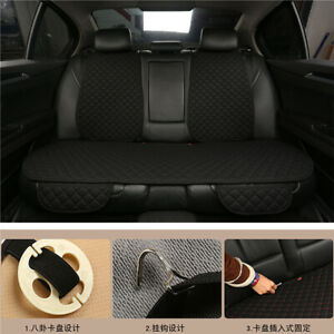Black-Breathable-Flax-Rear-Seat-Cover-Protector-Cushion-Pad-for-Auto-Truck-Suv