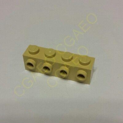 1 X Lego 30414 Brick, Modified 1 X 4 With 4 Studs On 1 Side (tan)