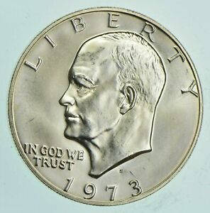 SPECIALLY-MINTED-S-Mint-Mark-1973-S-40-Eisenhower-Silver-Dollar-RARE