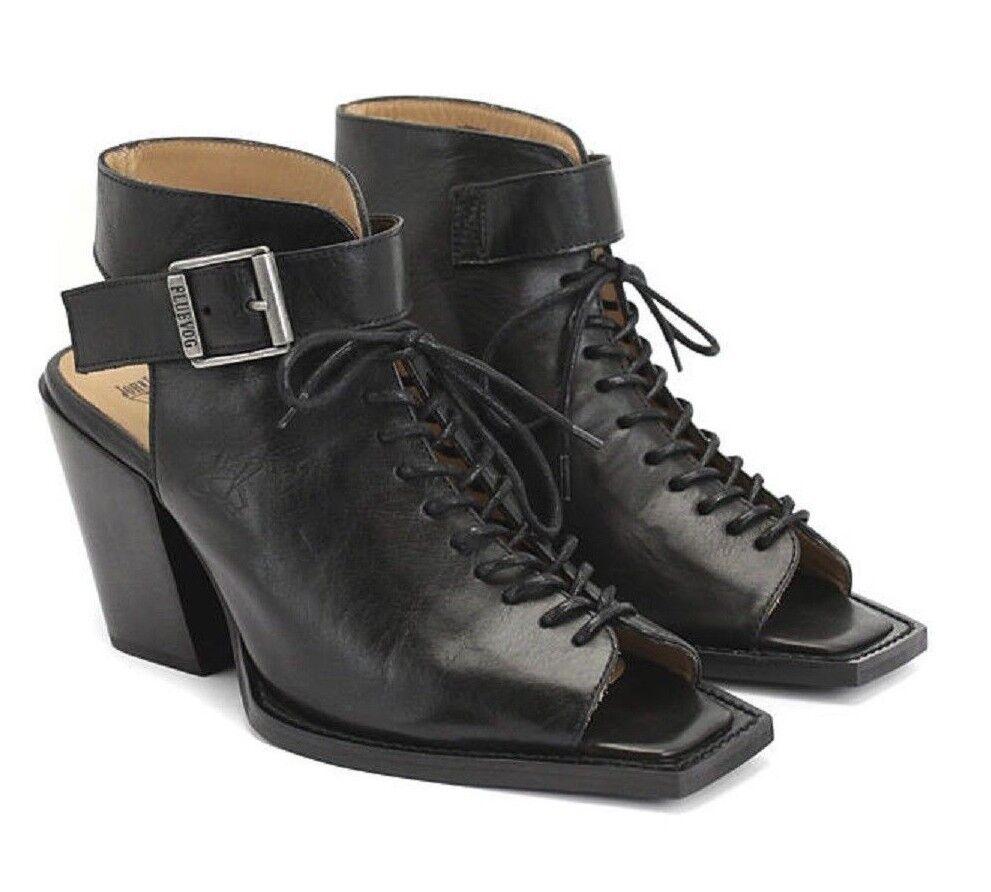 John fluevog Zapatos NYC rockafellah rockafellah rockafellah Con Cordones Botines Peep Toe Tacón 8  la mejor selección de