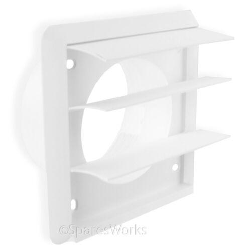 """Ventilation kit pour beko sèche-linge externe ventilation prise murale 4/"""" 100mm blanc"""