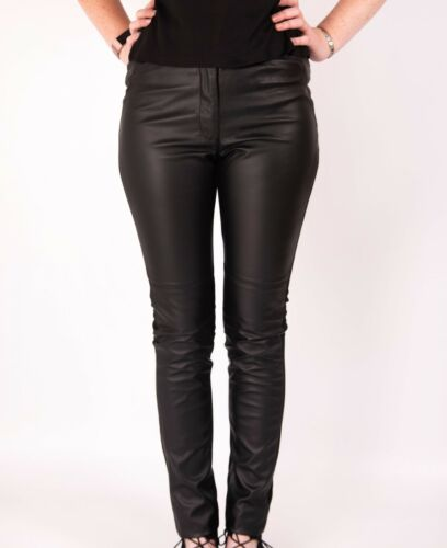 Leather Look Leggings Trousers Ladies H/&M Stretch Pants 6-10 New Skinny Fashion