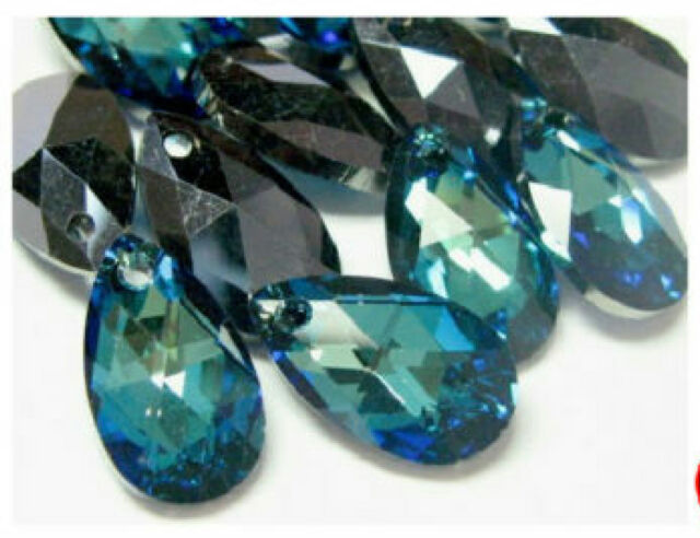 1pc Swarovski ® 16mm Bermuda Blue  Pendants Swarvoski ref: 6106