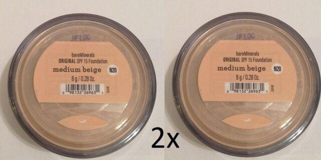 Bare Minerales Escentuals SPF 15 Beige Medio - N20 8g XL Pack de 2 Envío Gratis
