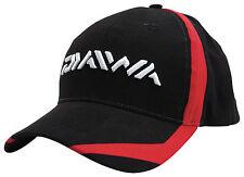 DAIWA RED & BLACK FLASH VENTED PEAKED BASEBALL CAP HAT CARP FISHING ACCESSORY
