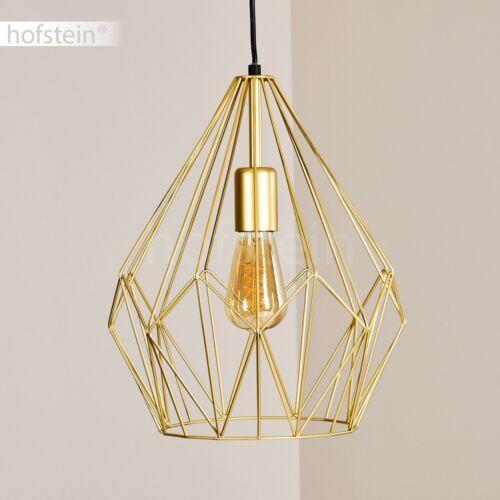 Pendel Lampen goldfarben Ess Wohn Schlaf Zimmer Retro Design Hänge Beleuchtung