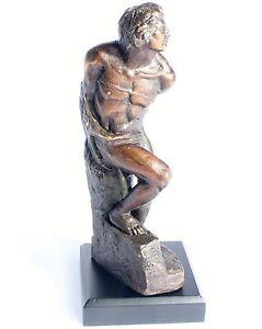 Michelangelo-gefesselter-Sklave-Bronze-Skulptur-Antik-Figur-Dekoration-Sculptur