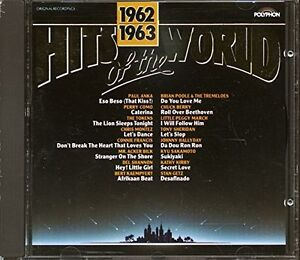 Hits-of-the-World-1962-63-Paul-Anka-Perry-Como-Del-Shannon-Chris-Monte-CD