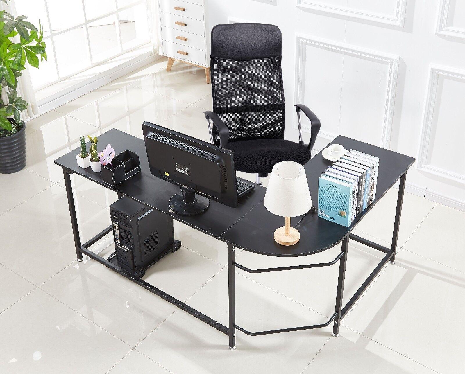 Marvelous Details About L Shaped Corner Desk Computer Gaming Desk PC Table Home  Office Workstation Small