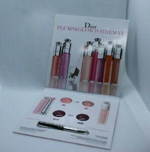 Dior Plump & Glow To The Max Lip Balm, Berry 006 + Pink 001 New Sample Pack