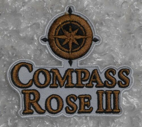 "3/"" x 2 3//4/"" Compass Rose III Patch Luxury Yacht"