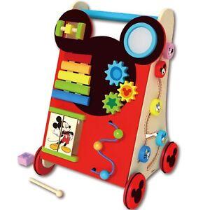 Baby-Walker-Laufwagen-Babyspielzeug-Motorikspielzeug-Motorikwurfel-Holz-Disney