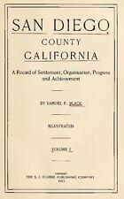 1913 SAN DIEGO County California CA, History and Genealogy Ancestry DVD V95