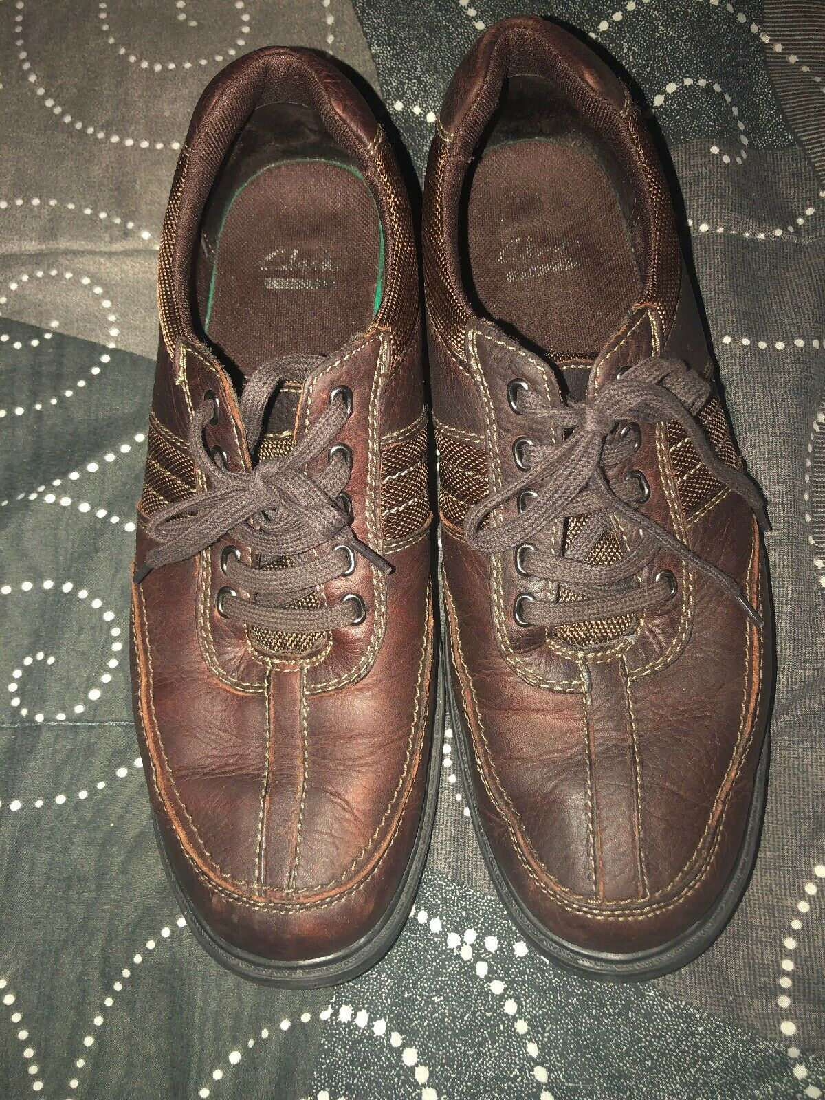 Clarks Keeler Mens Leather Casual Oxfords Walking shoes Size 10.5 M Brown