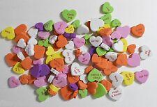 100+ Assorted  5mm Deep Love Heart Foam Heart Shapes 25, 20 & 15mm Dia New