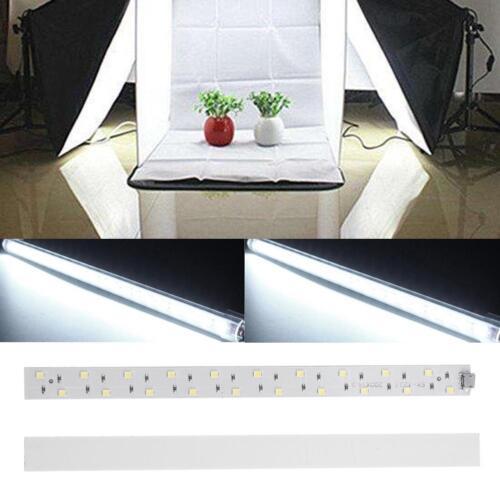 20cm USB 20LED 6400K Mini Faltbar Schrank Softbox Lampe Streifen Hart Licht BAR