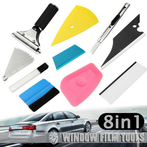 8 In 1 Car Window Tint Tools Kit Vinyl Film Tinting Squeegee Scraper Applicato9H
