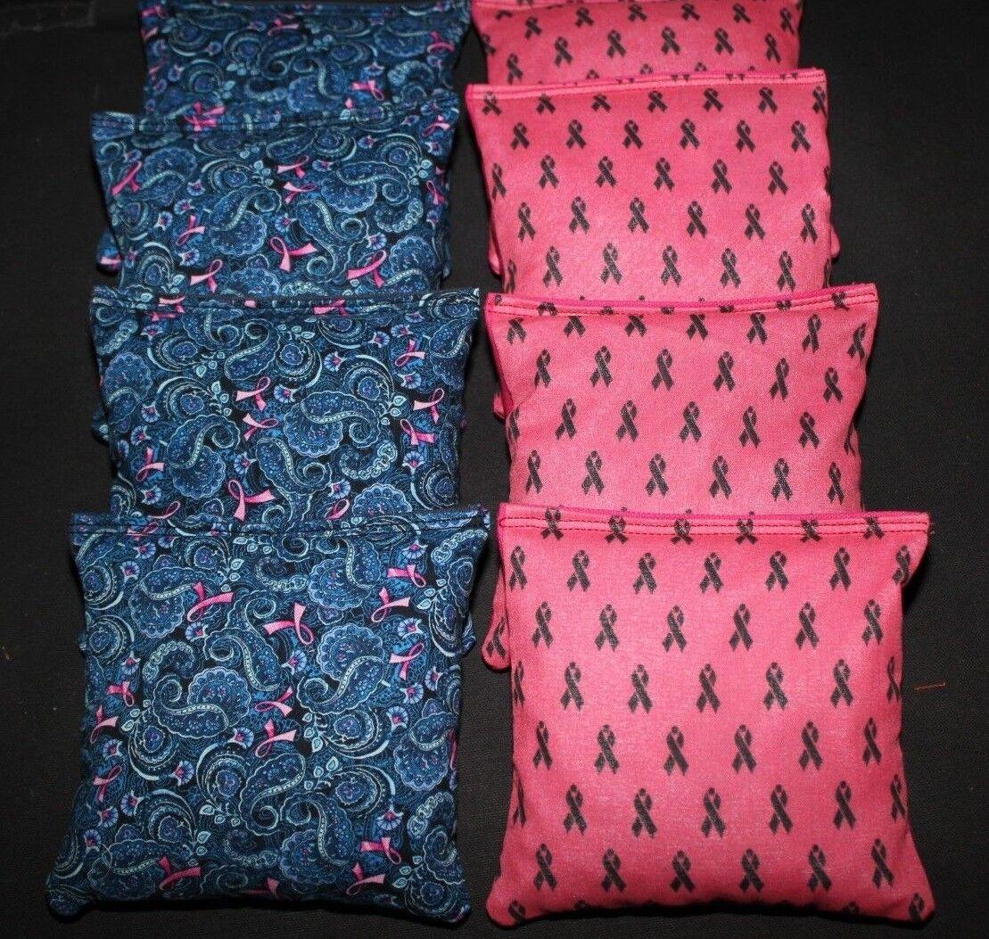 BREAST CANCER Ribbons Cornhole Bean Bags  8 ACA Regulation Corn Hole Shot Toss  in stadium promotions