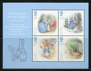 GREAT-BRITAIN-2016-BEATRIX-POTTER-SOUVENIR-SHEET-MINT-NEVER-HINGED