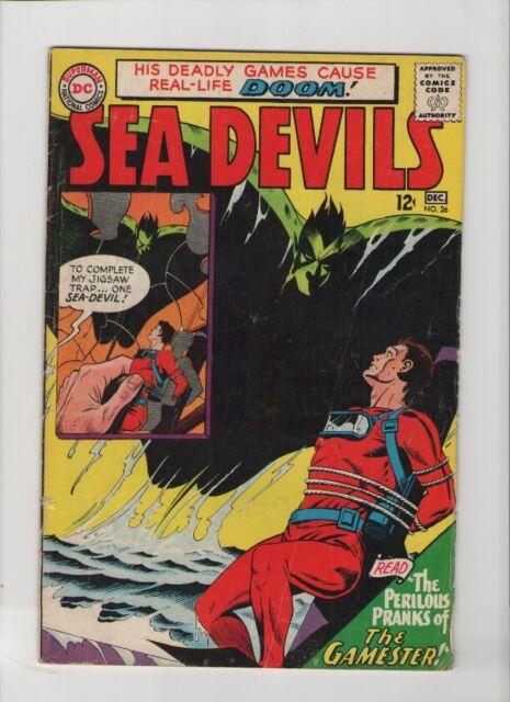 Sea Devils #26 - Perilous Pranks Of The Gamester - 1965 (Grade 4.0) WH