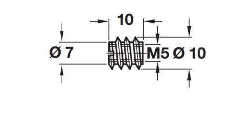 M4 M5 M6 M8 M10 THREADED INSERT SCREWS IN SLEEVE BUSHING SLOT DRIVE FURNITURE