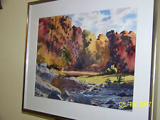 "Carl Schmalz Listed Artist Original WaterColor ""Holmes Run"" Landscape Painting"