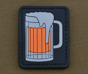 PVC-Rubber-Patch-034-Beer-034-with-VELCRO-brand-hook