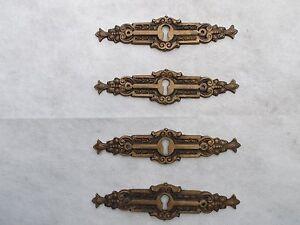 Credenza Con Chiavi : Antica serie di 4 bocchette chiave ottone x como cassettiera
