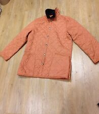 MENS MEDIUM M LONG BARBOUR LIDDESDALE JACKET QUILTED FARMER COAT EXCELLENT TAN