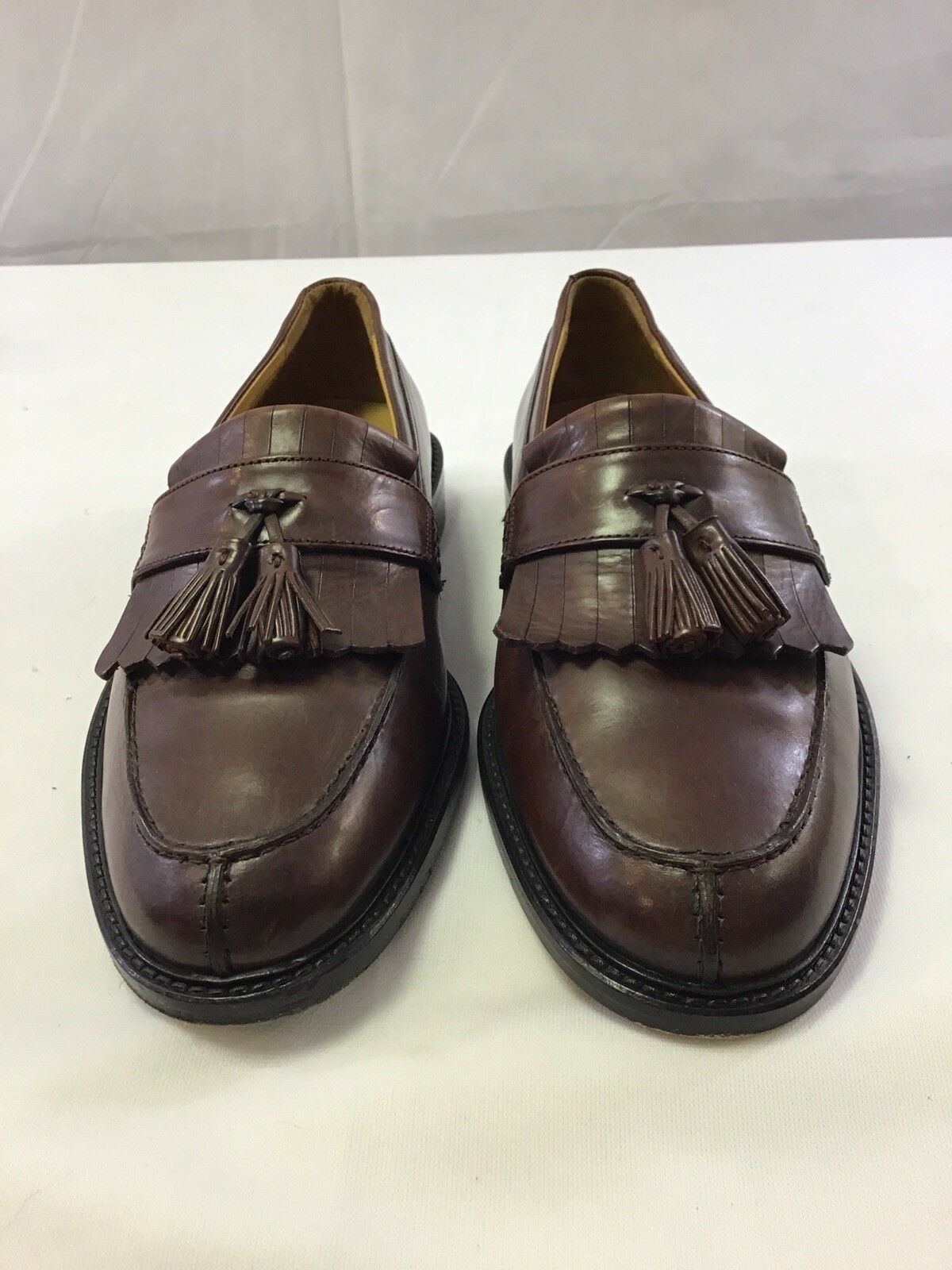 Johnson And Murphy Men's shoes Sz 7.5 m Brown Tassel Loafers 151140 Dress Work
