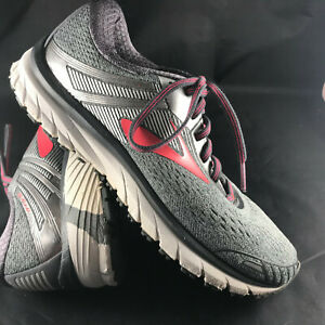 Running Shoes, Silver/Pink, Size 9.5