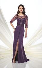 NEW MONTAGE Mon Cheri 117D61 Formal Evening PURPLE GOWN Size 18 Mother of Bride