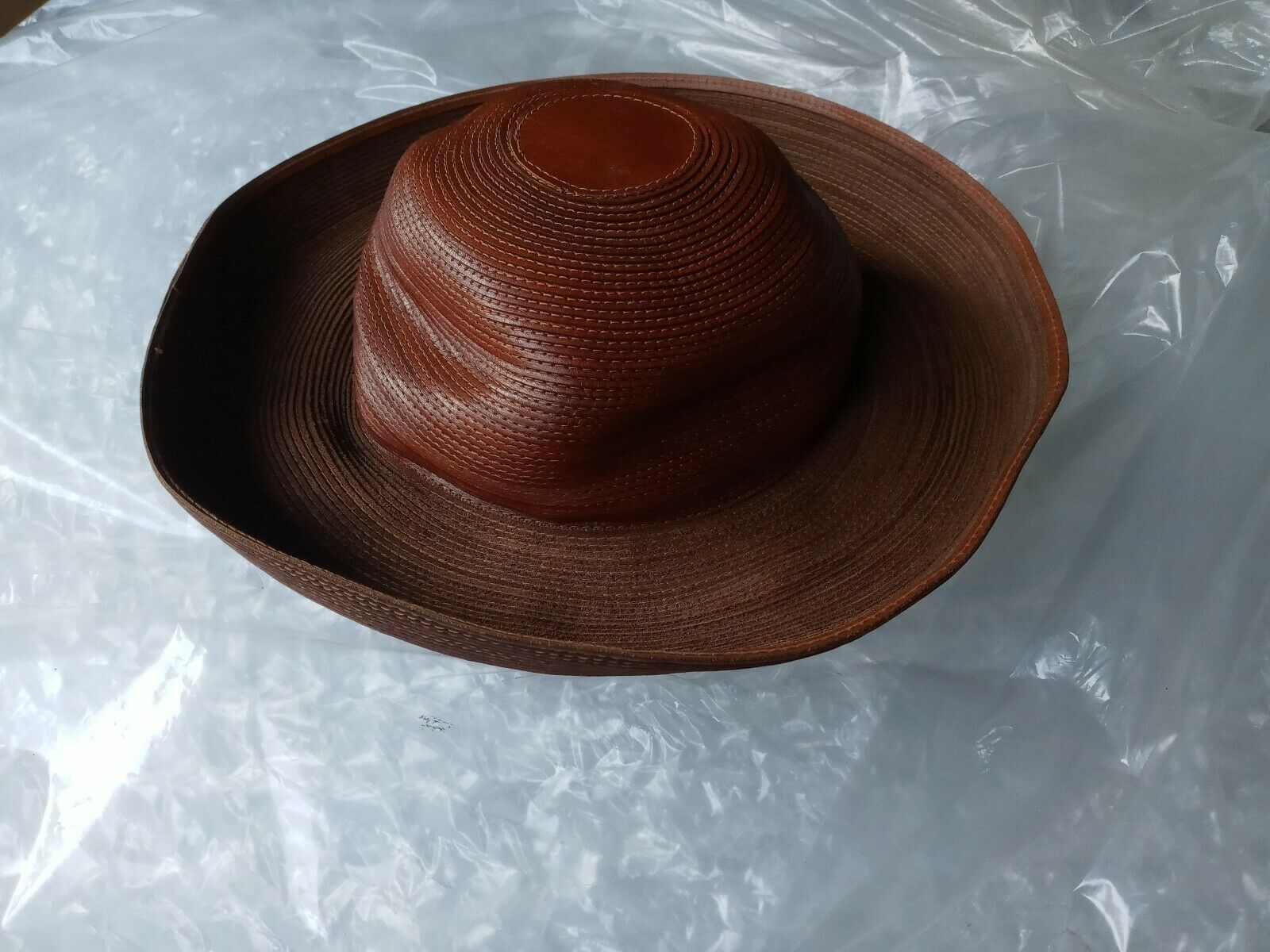 Patricia Underwood Hat Womens Wide Turned Brim Le… - image 11