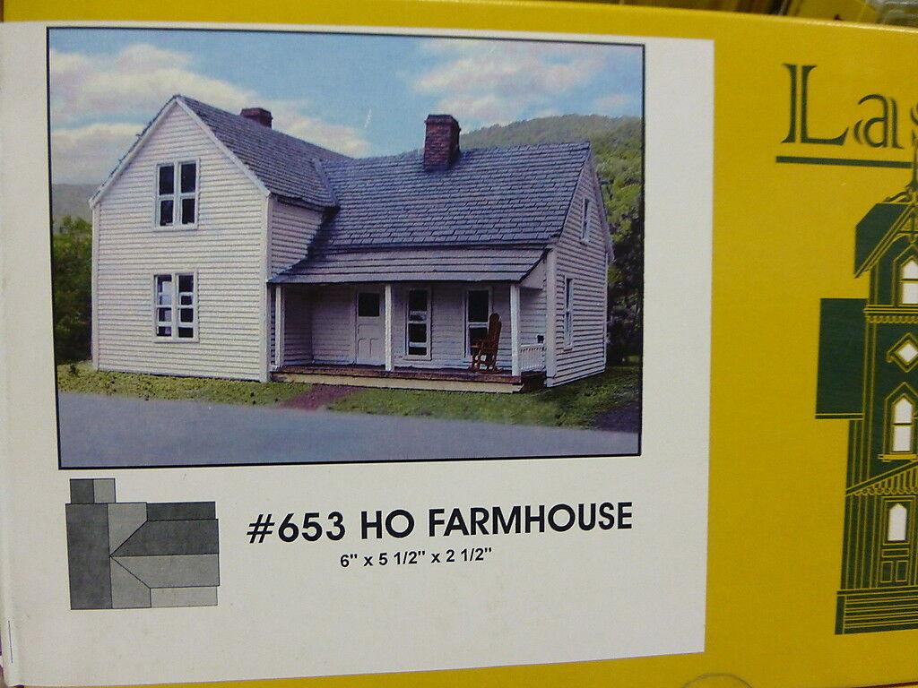 Branchline Laser-Art Structures HO  653 Farmhouse 6 x 5 1/2 x 2 1/2  Kit
